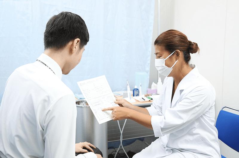 歯科衛生士問診風景